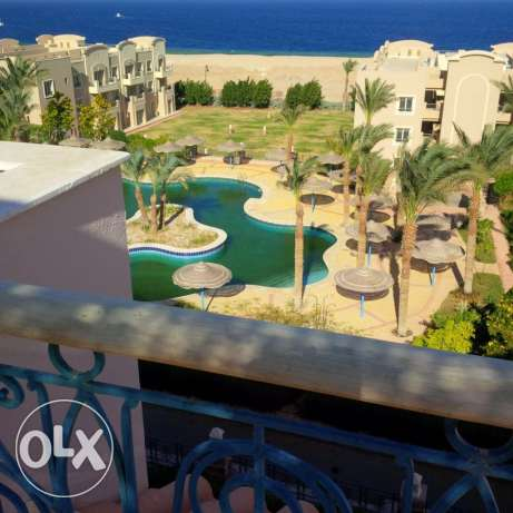 one bed room flat in sahl hasheesh overlooking the pool and sea for re الغردقة -  2