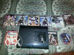 ps3 super slim 500 giga with 7 games with 1 controller