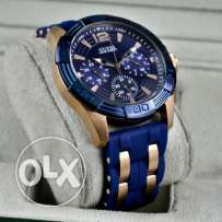 Guess Rubber Watch Blue Face
