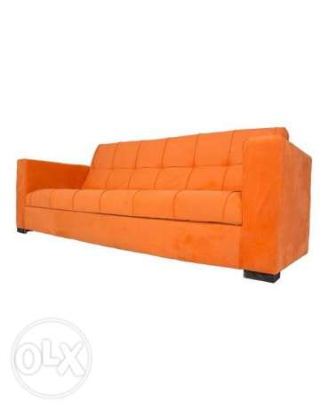 Art Home Big Sofa with Arme + 2 Pillow - Orange
