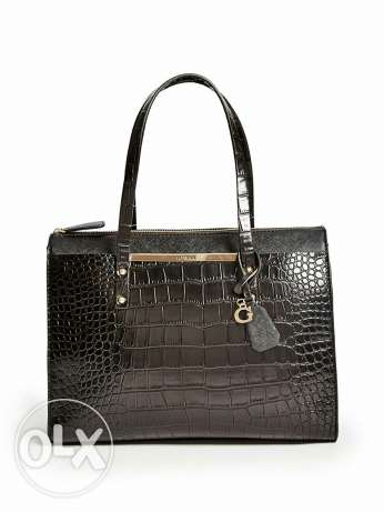 Guess handbag Crocodile leather shape