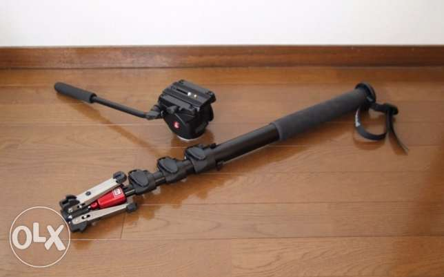 monopod manfrotto with video head