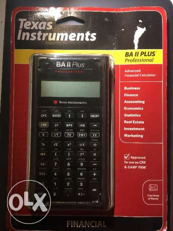 TI BA II Plus Professional - Approved for use on CFA® & GARP® FRM®