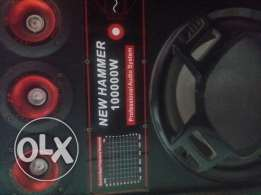 New hammer 10000w professional audio system
