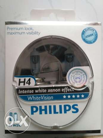 Philips H4 White Vision Intense white Xenon Effect