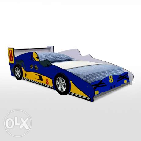 Challenger Kids 3D Racing Car Bed - Blue