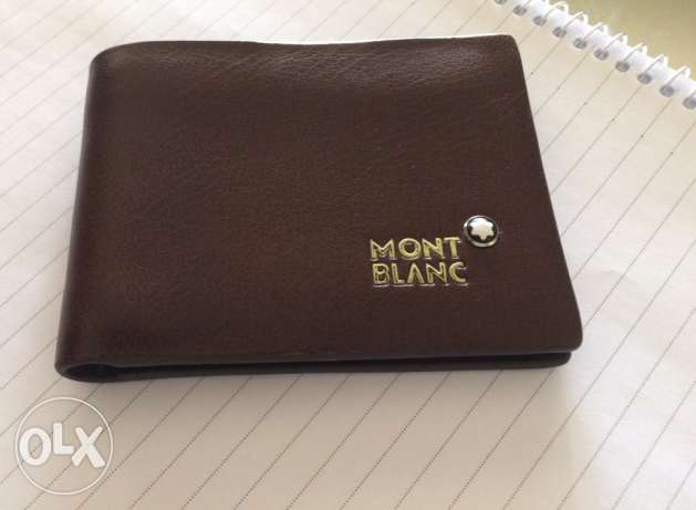 Mont Blanc leather wallet first copy