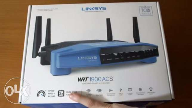 Linksys WRT1900ACS Dual-Band WI-FI Router with Ultra-Fast 1.6 GHZ CPU