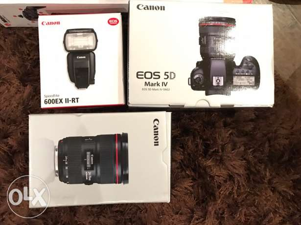 Canon Professional Kit Body+Lens+Flash المعادي -  6