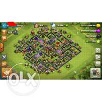 Acc town 10 5 builders 2500 gems also leader of clan lvl 7