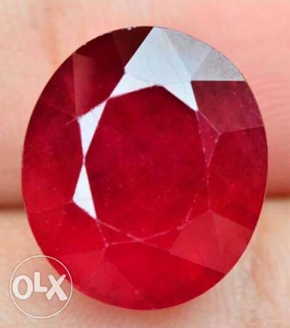 Certified natural Red Ruby حجر ياقوت احمر طبيعي + شهادة مختبر