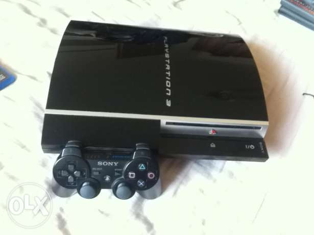 ps3 fat with external hard disk 500GB ميت عقبة -  1