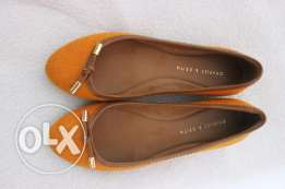 New charles and keith orange shoes size 37