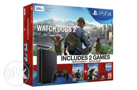 ps4 slim 500gb watch dogs and watch dogs 2 bundle new