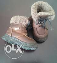 Winter warm leather boots