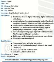 Digital Marketing Executive are required for International Group