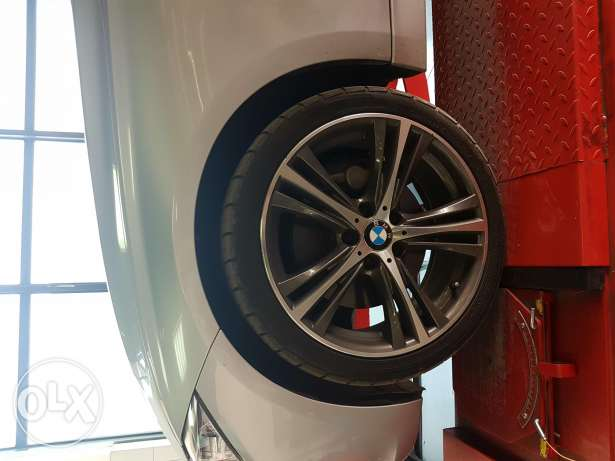 """19"""" BMW wheels 2 inch with 2 tires 255/35 Verdistien (Made in Holland"""