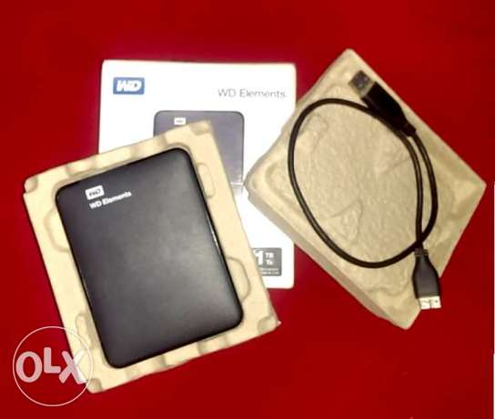 Extrnal HDD 1Tb. as new WD with all accessories & box الهرم -  1