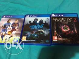 Fifa 16 + Resident Evil Revelations 2 + Need for Speed Ghost