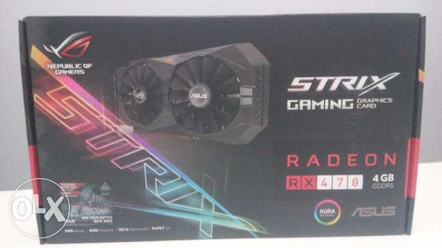 ASUS RX 470 Strix OC 4GB (جديد)