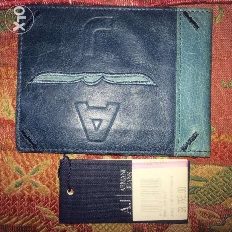 new authentice armani jeans wallet made in italy محفظة ارماني اصلي مصر الجديدة -  1