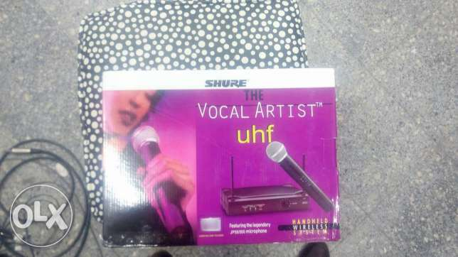 Vocal artist uhf mic by shure wireless
