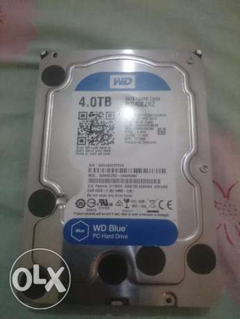 Hard disk WD 4.0 TB SATA / 64 MB Cache Product of Thailand