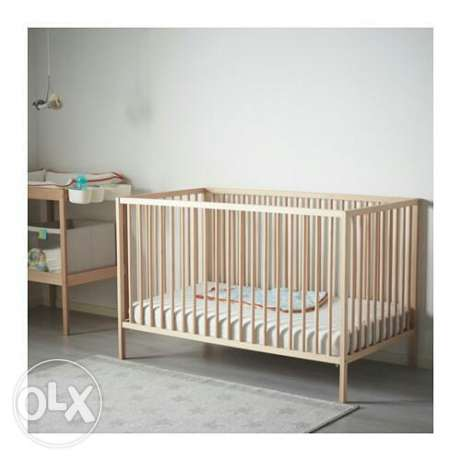 Baby crib with mattress and side rail pampers and net حى الجيزة -  5