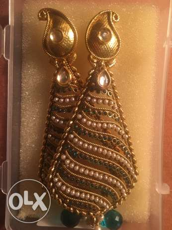 Authentic Indian Earring with pearls from India