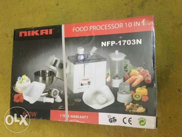 NIKAI Food Processor 10 in 1 Kitchen Machine - Made in Japan -Sealed