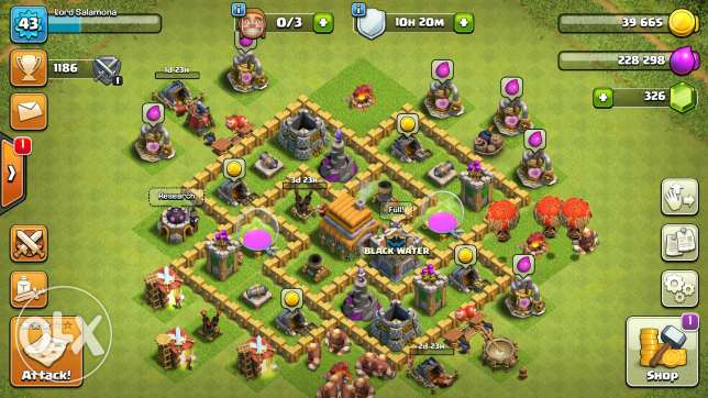 selling clash of clans account townhall level 6
