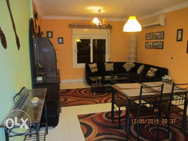 Fully Furnished flat 110m- 2 beds- for rent – in el rehab city