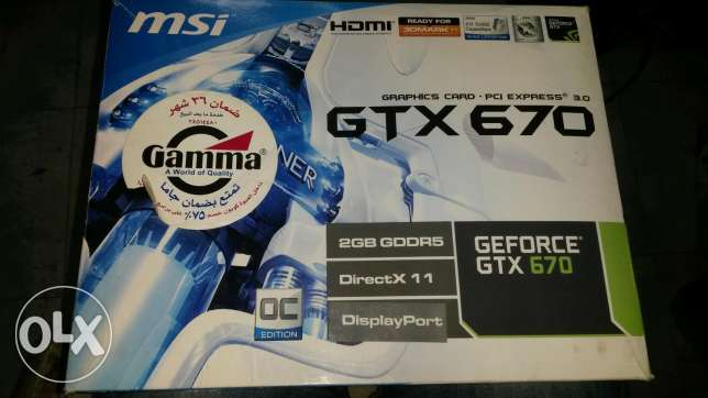 Msi gtx 670 2g ddr5 new