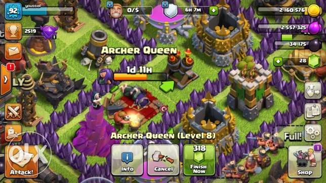 clash of clans town 10 level 92