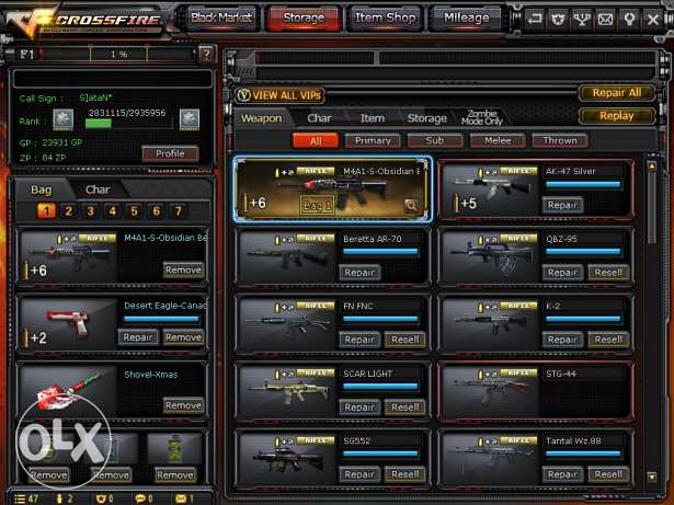 Crossfire Account 6 Years Old M4a1-Obs VIP ,, Old Rare Weapons