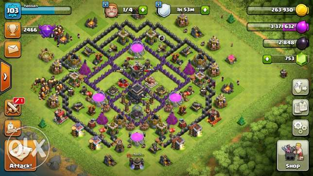 Clash Of Clans , Town Hall 9