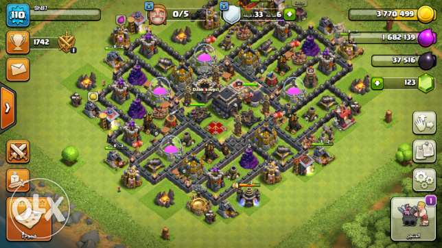 clash of clans قرية تون 9 ماكس