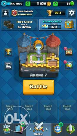 Clash royale account 15 epic 1 legendary Arena 7 الهرم -  4