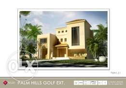 Standalone villa in golf extension zone B type J with installments