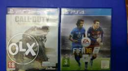 لعبتين fifa 16 و ps4 call of duty