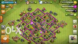 Clach of clans account town hall lvl8