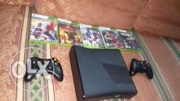 Xbox 360 console with 2joistik and 5games original
