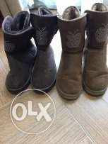 female boot brown and camel size 40 shamwa and inside fur