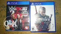 Witcher 3, Wwe2k 16 for sale or trade