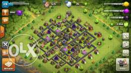 clash of clans account lvl120 th9 max almost done