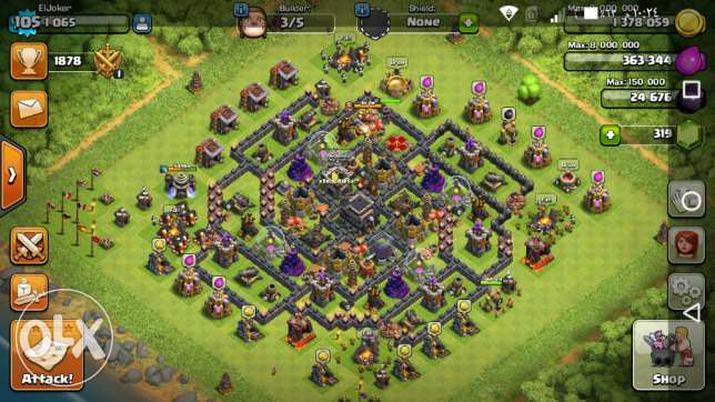للبيع Clash of clans (COC) town 9