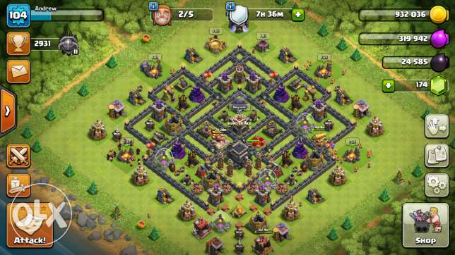 Th9 clash of clans for sale كفر الدوار -  1