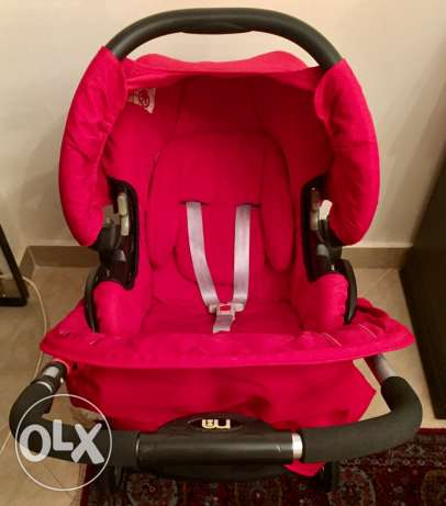 Mothercare Vesta 3 - Wheeler Travel System - Flame Red المقطم -  6