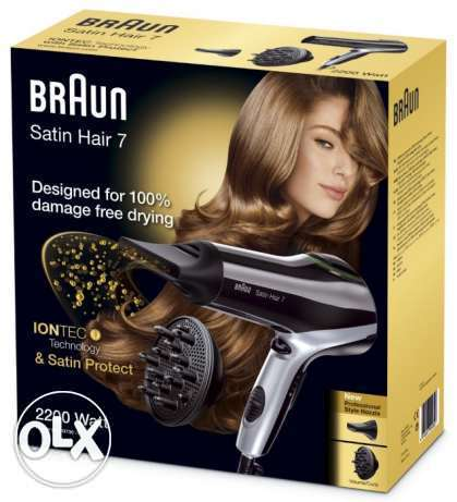 Braun Satin Hair Dryer 7 HD730 with diffuser and iontec