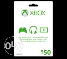 Xbox cards us